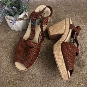 Farylrobin Anthro Weaved Woven Wedge Sandals